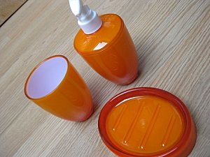 Accesoires sdb orange