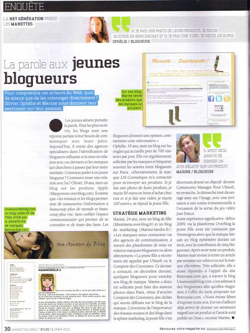Marketing Direct fevrier 2010 reduit