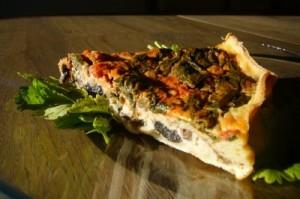 Tarte légumes / fromage à raclette