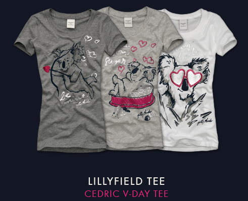 T-shirt st-valentin abercrombie
