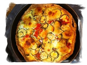 Tarte Kluger home made : Tomates, mozza, courgettes