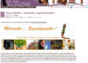 MaRiNeTTe... Saperlipopette ! en blog vedette sur Yves Rocher !
