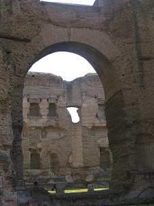 Rome et ses ruines : les thermes de Caracalla