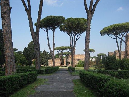 Rome et ses ruines les thermes de caracalla marinette for Le jardin 489 rome