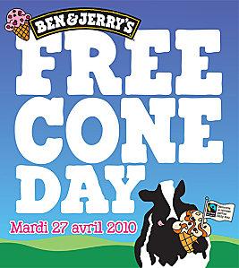 Ben & Jerry's - Free Cone day 2010 [Bon plan du jour]