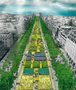 Les Champs Elysées en jardin géant