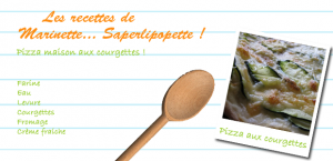 Pizza home made - aux courgettes
