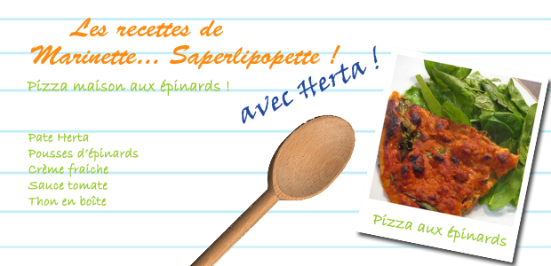 pizza epinards