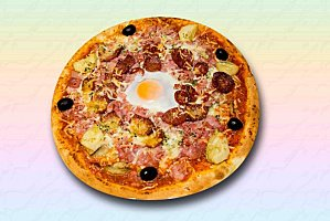 pizza oeuf