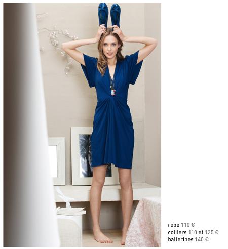 robe comptoir bleue