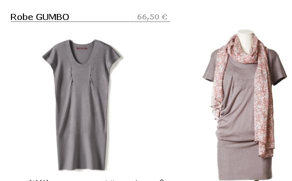 robe comptoir grise