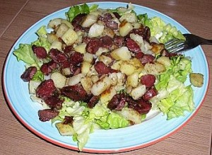 Gesiers / pommes de terre / oignons