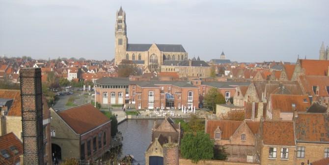 """Bruges vue de la brasserie """"De Halve Maan"""""""