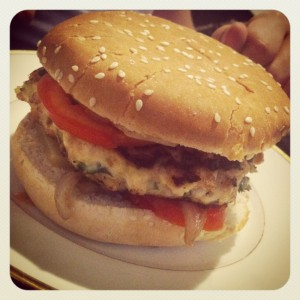 Burger au lapin [home made] [facon Camion qui fume]