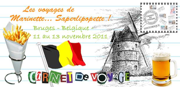 Carnet de voyages à Bruges