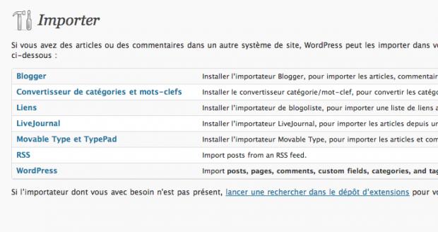 Migration WordPress