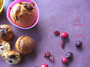 Petits muffins aux Cranberries