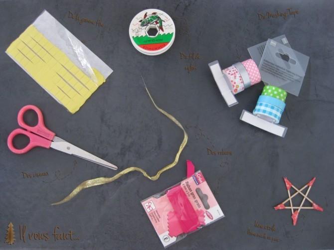 Sapin DIY masking tape