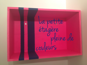 DIY : La petite etagere (toute en couleurs) home made !