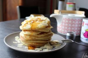 Pancakes miel amandes
