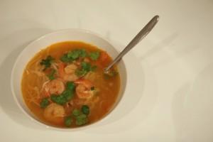 Soupe Thai rapide comme l'eclair