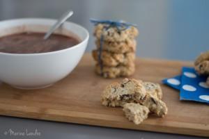 Les cookies à l'avoine moelleux moelleux
