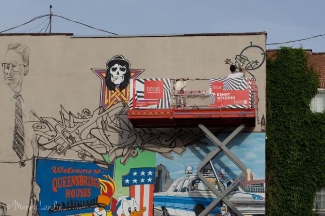 Mural festival montr al marinette saperlipopette for Air climatise mural montreal