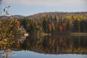 Les week-end en chalet, l'automne, au Quebec [Canada]