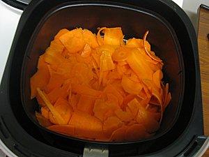Airfryer de Philips, friteuse sans huile - Test 2 = Chips de carotte !